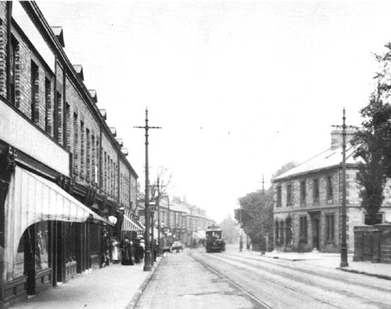Gosforth High Street in 1903